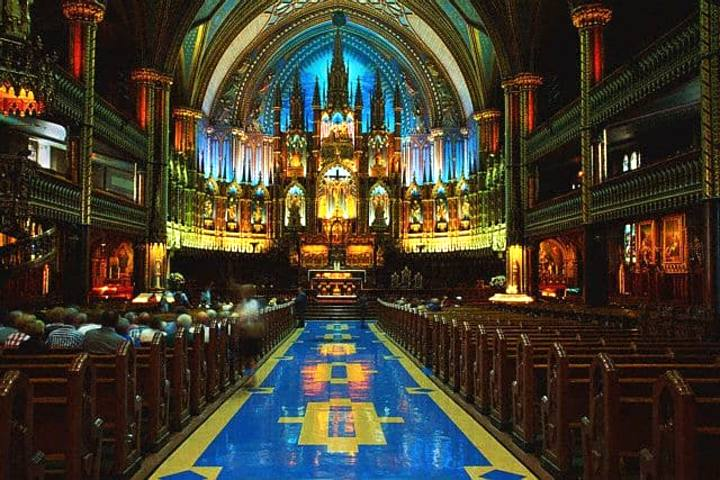 Iglesia Notre Dame en Montreal. Foto Archivo.