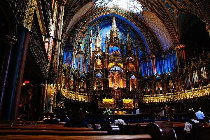 Iglesia Notre Dame en Montreal. Foto Pixabay.
