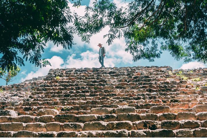 Pirámide Kinich. Foto Izamal.