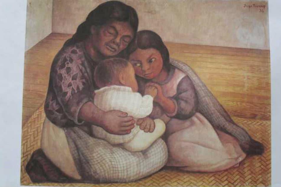 La Famlia obra del pintor mexicano Diego Rivera Foto Aceroarte