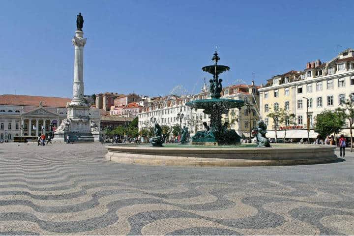 La plaza de Rossio. Portugal. Imagen: The Voya