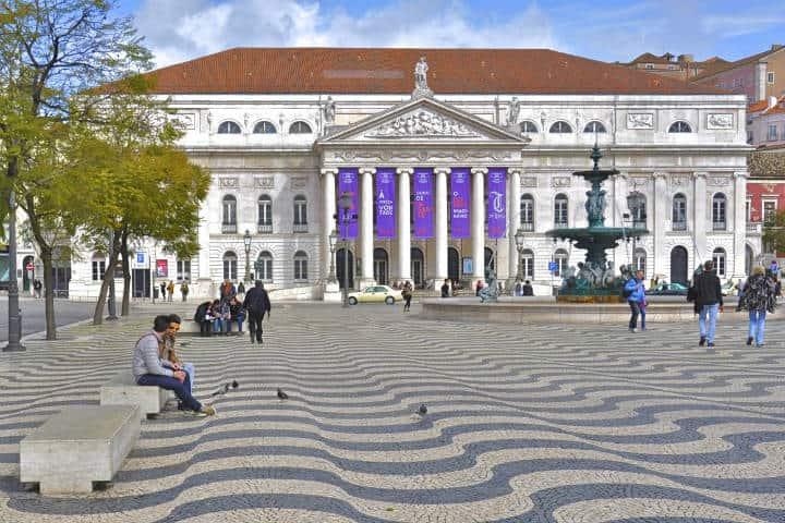 La plaza de Rossio. Portugal. Imagen. The wolf 4