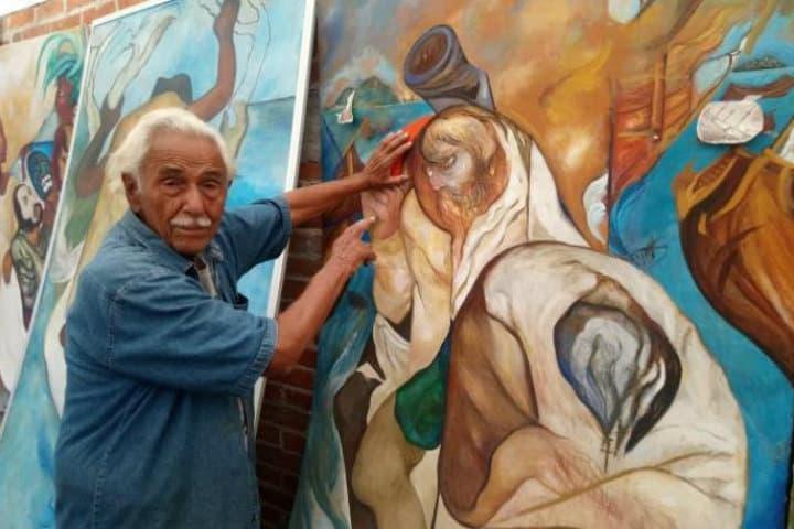 Muralistas de Xalapa.Foto.Hoy Los Ángeles.12