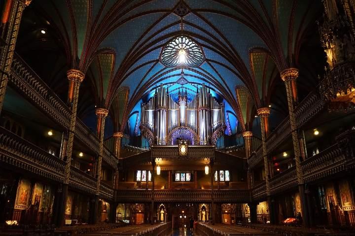 Órgano, Iglesia Notre Dame en Montreal. Foto El Horizonte