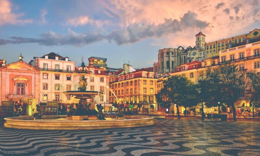 Plaza de Rossio Foto terraquo com