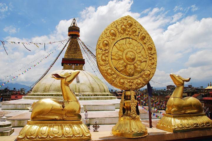 Recorrido por Boudhanath en Nepal. Foto Luis Valiente