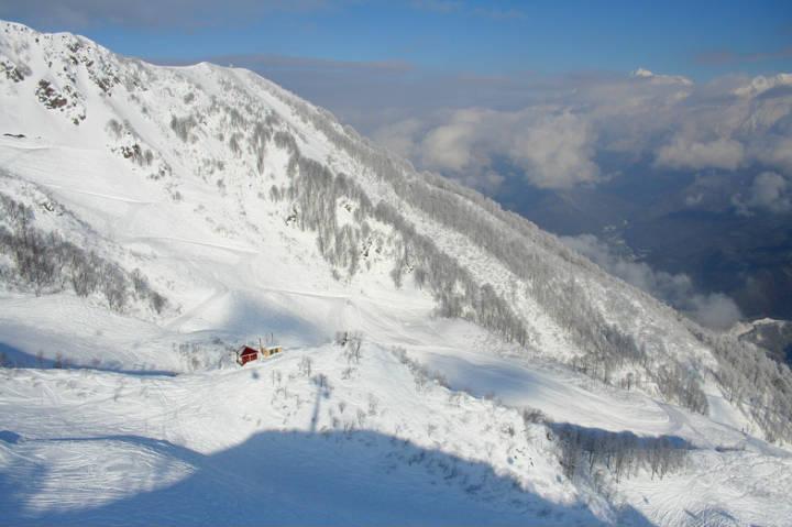 Krásnaya Polyana, Juegos olímpicos de invierno en Sochi. Foto Snow Forecast.