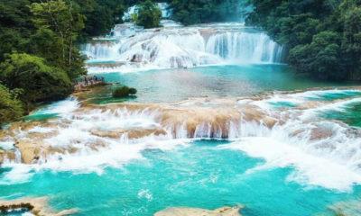 Cascadas agua azul en Chiapas. Foto VisitaChiapas.