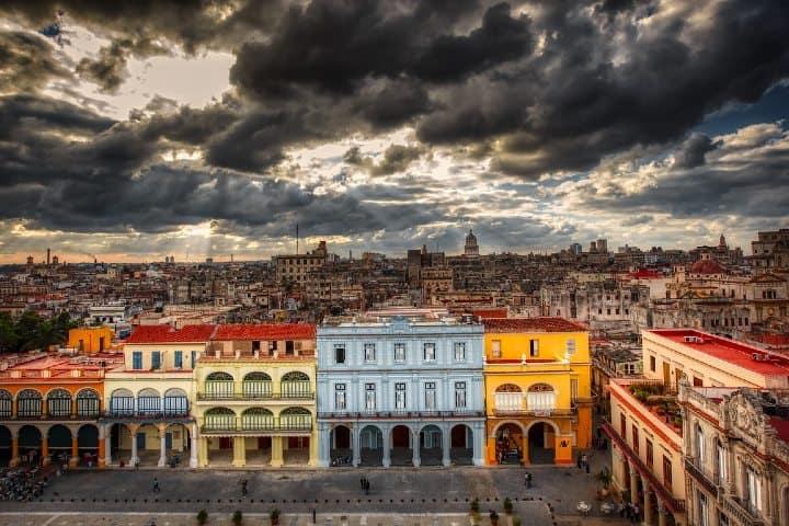 Vista de un punto alto de la Habana.