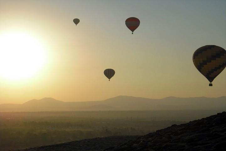 Vuelo en globo en Teotihuacán. Foto Rodrigo de la torre.