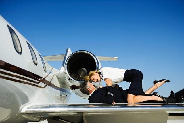 Encuentros románticos en un avión. ¿Sexo en un avión?. Foto: Archivo
