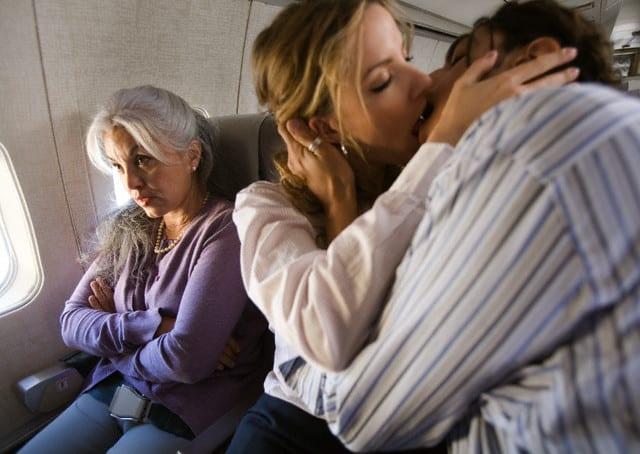Encuentros románticos en un avión. Foto: Archivo.