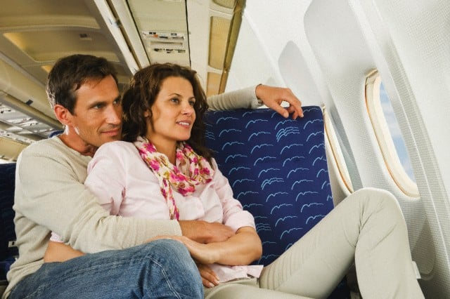 Encuentros románticos en un avión. Un fetiche para muchos. Foto: Archivo