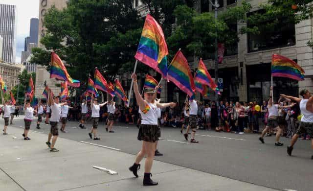 Gay parade en Seattle
