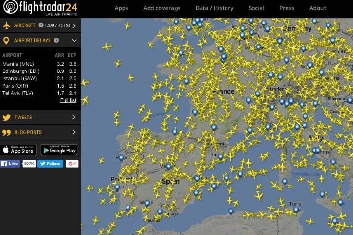 Flightradar24 ¡Pruébela te encantara! Foto: Archivo.