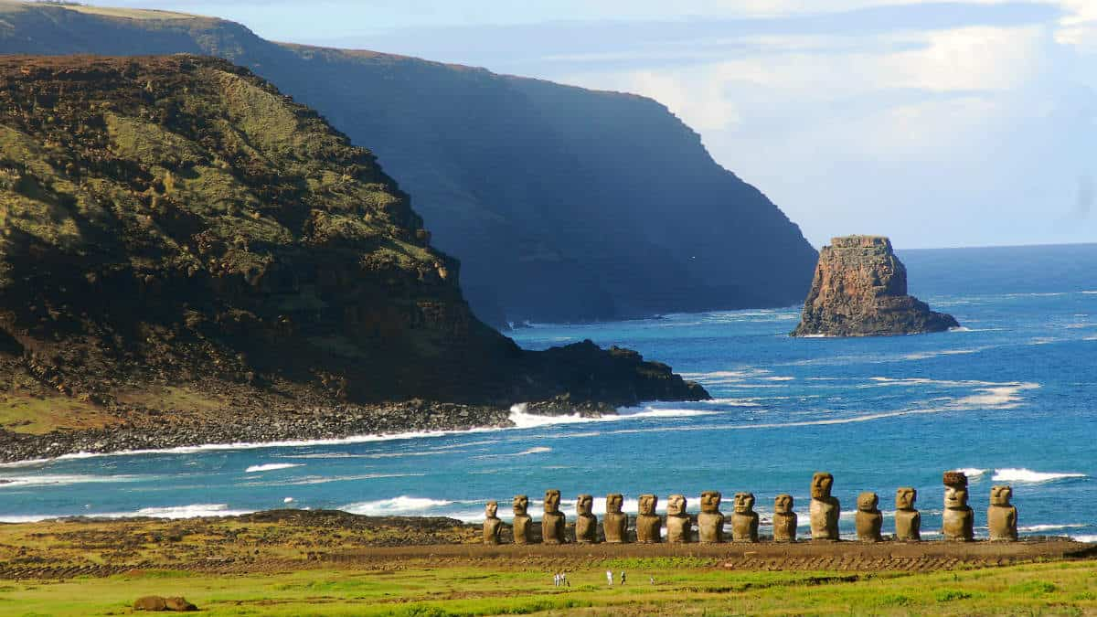 Moais en la Isla de Pascua