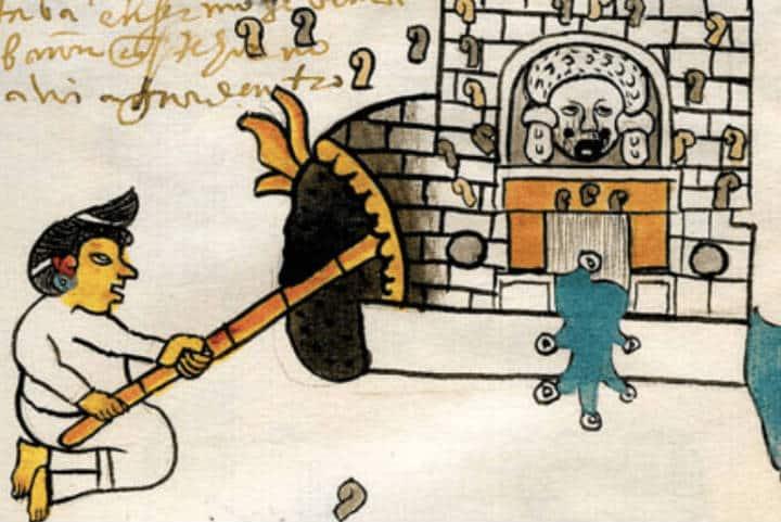 Imagen sobre los temazcales en Códices prehispánicos Foto Neomexicanismos