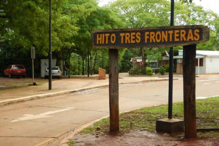 Hito Tres Fronteras en Iguazú. Foto Archivo.