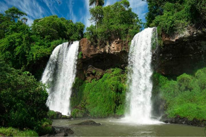 Cascadas Las Hermanas en Iguazú. Foto Infobae.