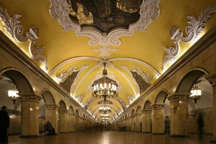 Komsomolskaya, estación de metro en Moscú. Foto Archivo 5