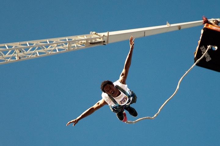 Los mejores lugares para saltar en Bungee. Foto Christian Presse