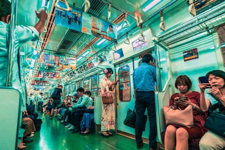 Metro de Tokyo. Japón. Foto: Jezael Melgoza