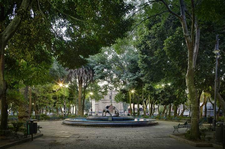 Jardín Hidalgo. Foto México es Cultura.