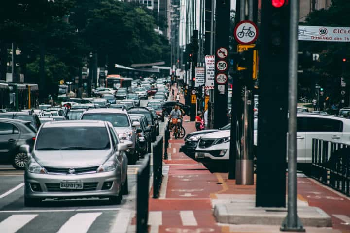 Tráfico en Sao Paulo.Carta a Sao Paulo.Foto.Pexels.12