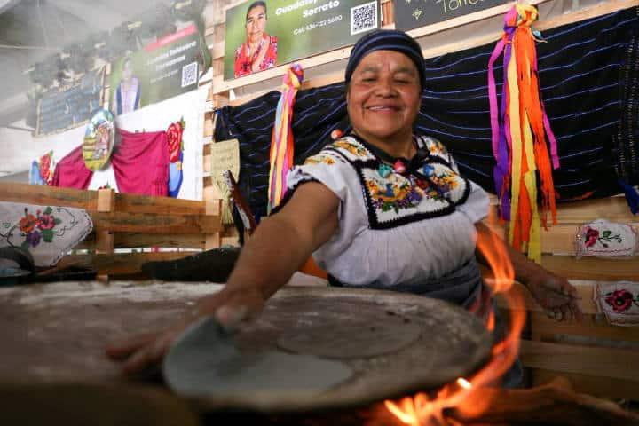Encuentro de cocineras tradicionales en Michoacán.Foto.Educación Michoacán.Twitter.4