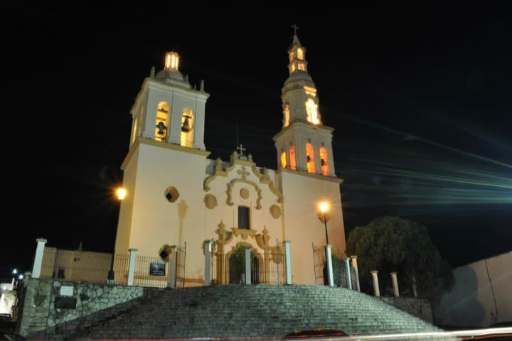 Iglesia del Apóstol Santiago en Villa de Santiago. Foto: Mapio.net.