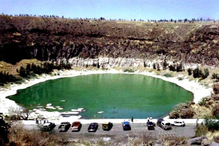 La Alberca , el cráter más famoso que contiene una laguna rica en compuestos sódicos Foto El Sol de Salamanca