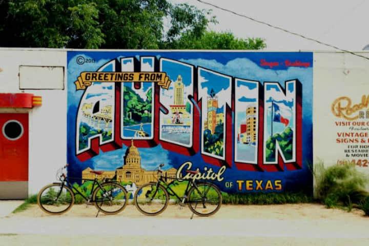 Mural inspirado en la ciudad Foto Archivo