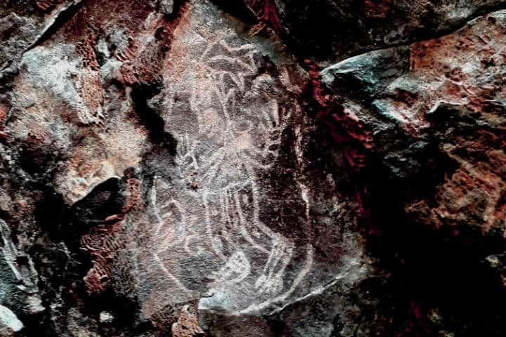 Pinturas rupestres en la Hoya de Cíntora Foto Facebook