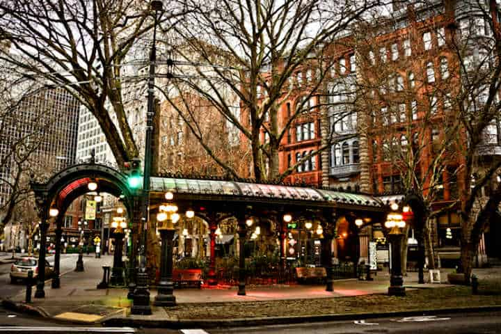 Pioneer Square Foto Seattle and Sound