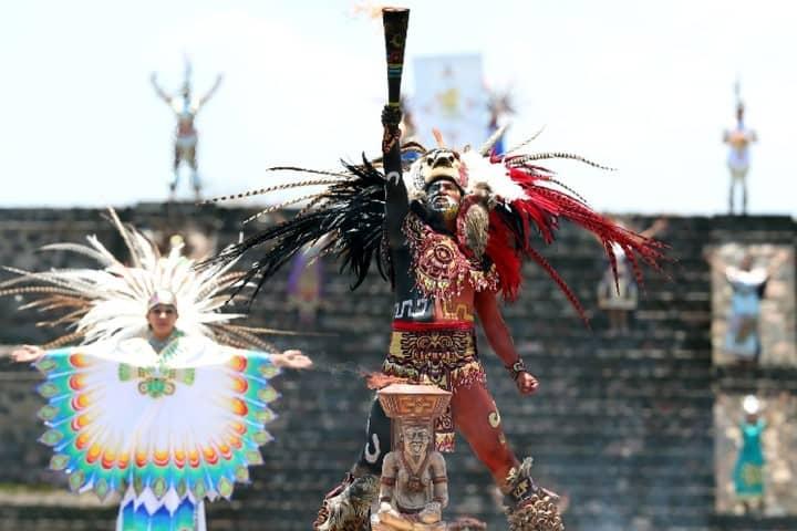 Antorcha juegos panamericanos Teotihuacán 2015. Foto: Milenio