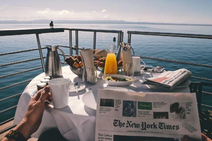 Desayuno en crucero. Foto:  Reynier Carl