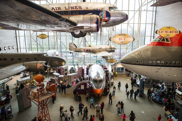 El Museo Nacional del Aire y el Espacio del Instituto Smithsoniano en Washington (© Saul Loeb/AFP/Getty Images
