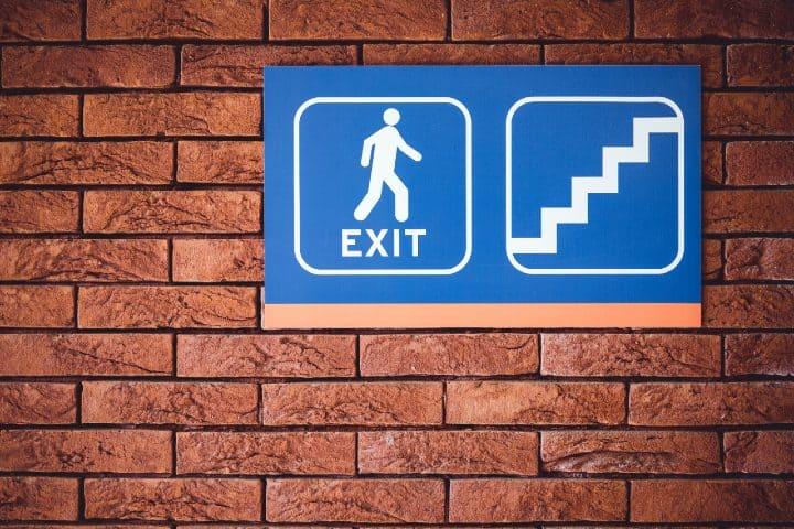 Señal de salida. Foto: Bernard Hermant