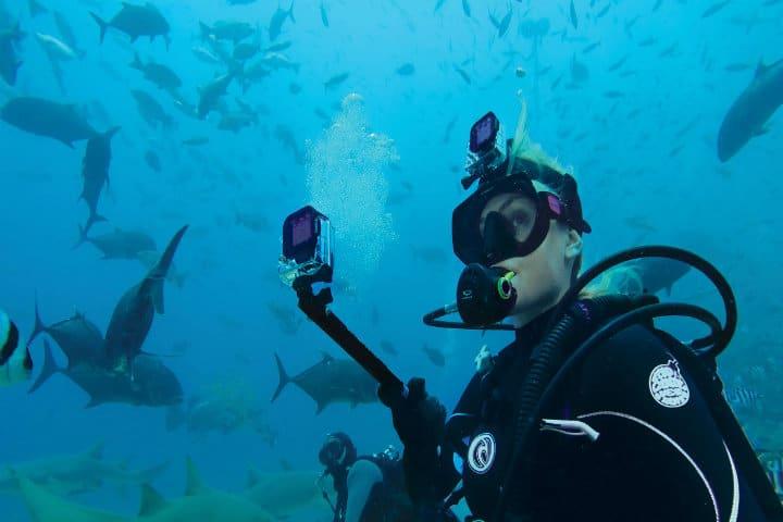 go pro bajo el mar