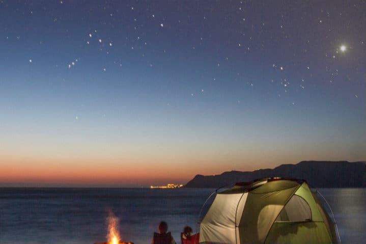 playas para acampar