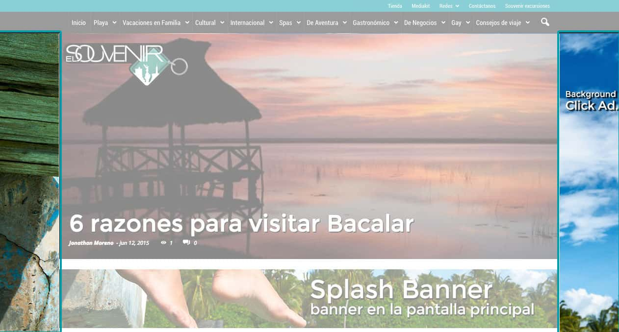 No sólo tengas un skin para nuestro sitio, nuestro background funciona como un botón gigante donde los usuarios pueden dar click!