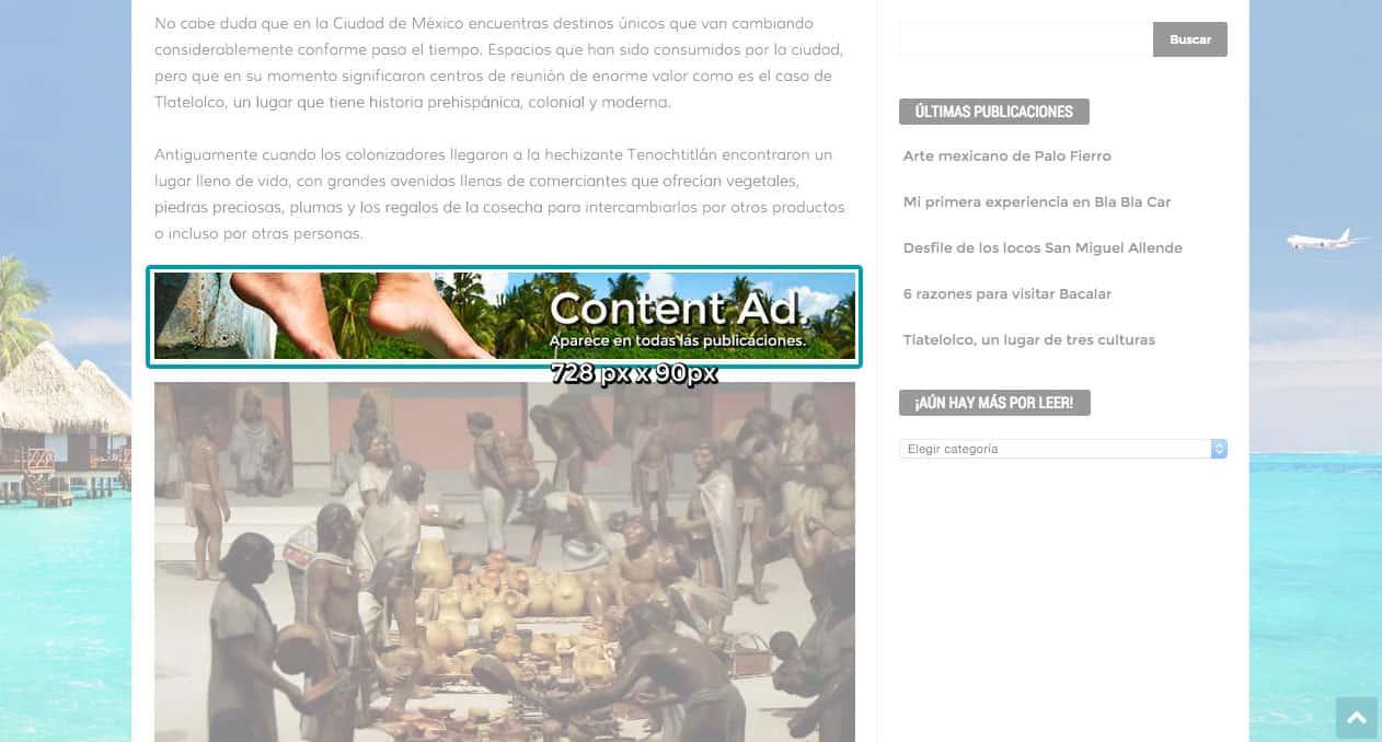 Que nuestros lectores vean tu marca dentro del contenido de nuestro blog.