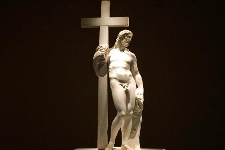 Cristo Giustiniani sólo podrás verlo en la pimera de las exposiciones de Miguel Ángel y Da Vinci en Bellas Artes Foto Museo del Palacio de Bellas Artes