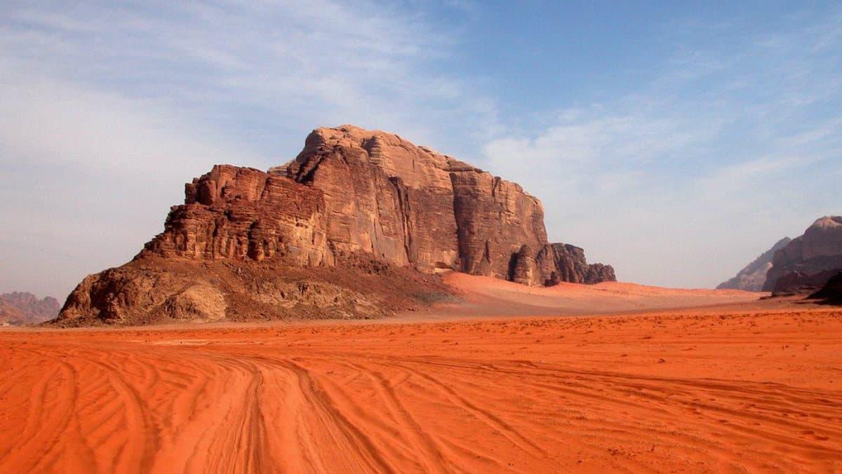 Wadi Rum en Jordania Foto Archivo