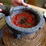 salsa roja de chicatana