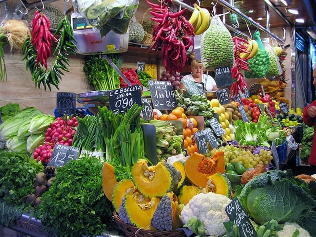 verdura la boqueria