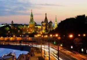 kremlin de noche