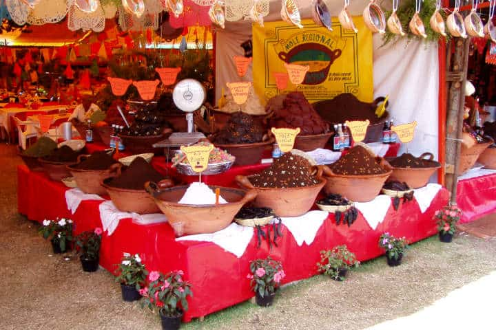 Gran variedad de moles.Foto.Caribe comunica's.2