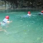 saltos de damajagua nadadores