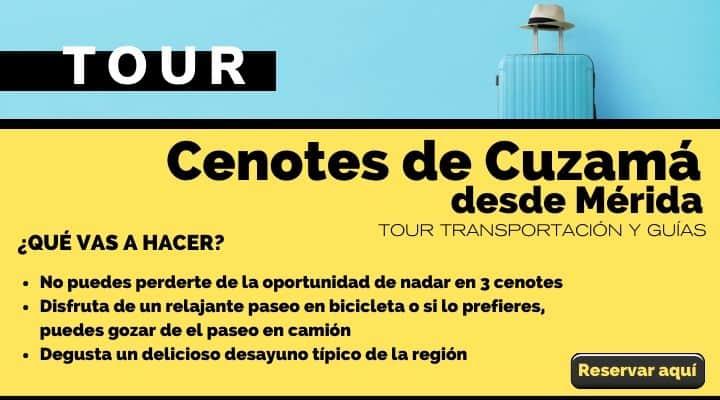 Tour día completo en cenotes de Cuzama, desde Mérida. Arte El Souvenir